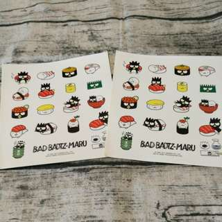Bad badtz-maru sticker x 2