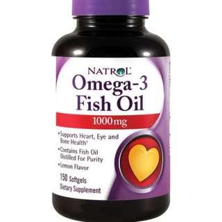 (USGMP) NA317 Natrol Omega-3 Fish Oil 1000mg DHA EPA 分子蒸餾 深海 魚油丸