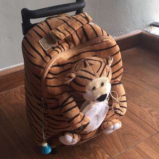 Tiger backpack cum pull out trolley bag