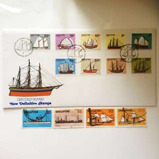 Full set 1980 Ship Series stamps
