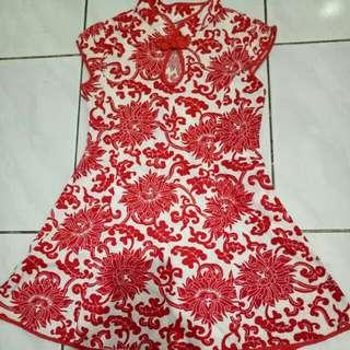 Merah cheongsam