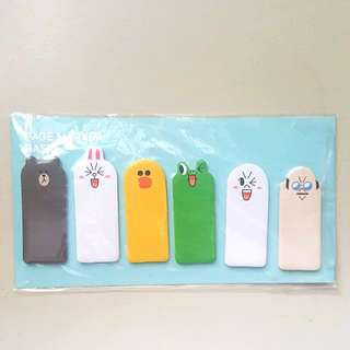 LINE Friends Page Markers