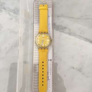 Big face Yellow Swatch Watch