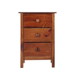 Wooden bedside table