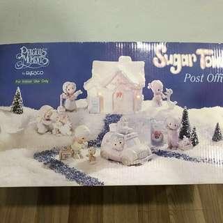 Precious Moments Sugar Town Post Office 8 PC set 456217 Christmas Enesco - Rare