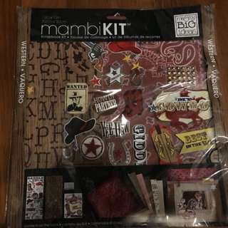 Cowboy theme scrapbook kit