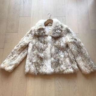 Beige camel Rabbit fur jacket 🐰