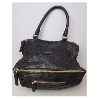 米蘭直送 Givenchy Pandora Black Pepe Bag Crossbody Satchel Leather Medium Purse 洗水羊皮 手袋
