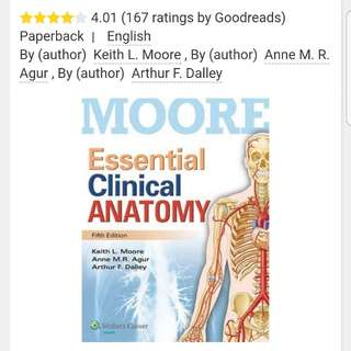 BN Moore Essential Clinical Anatomy (International 5th edition)