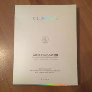BNIB  KLAVUU  WHITE Pearlsation Pearl Serum Mask