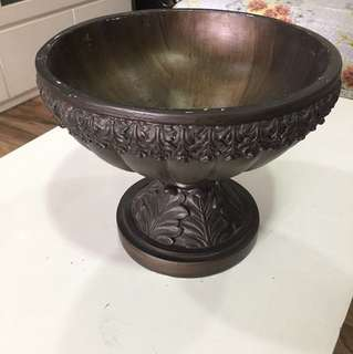 Antique brass-look bowl