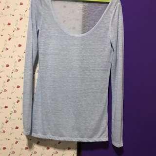 Baby Blue Long Sleeve Top