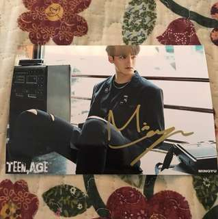 [READYSTOCK] OFFICIAL SEVENTEEN MINGYU SIGNATURE