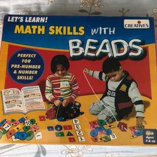 Maths skills with beads