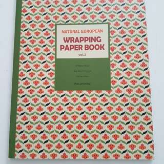 Natural European Wrapping Paper Book