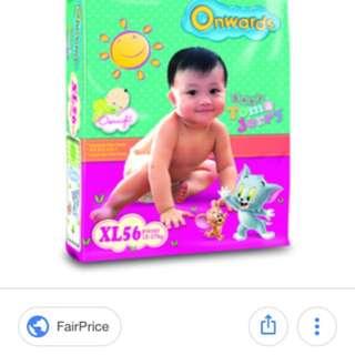 Onwards diapers 2 packs