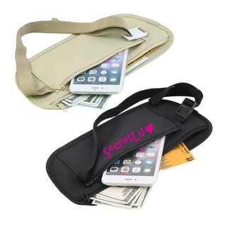 [BRAND NEW] [In Stock] Travel Pouch Hidden Zippered Waist Compact Security Money Waist Belt Bag