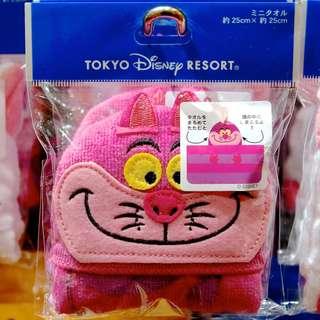 Tokyo Disneysea Disneyland Disney Resorts Sea Land Disney Resort Cheshire Cat Towel with Loop