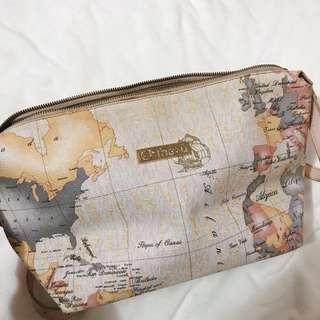 Chiharu Tokyo米白色地圖餃子手袋