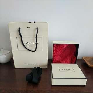 Jo malone gift bag and box