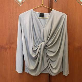 ATS label grey draped top