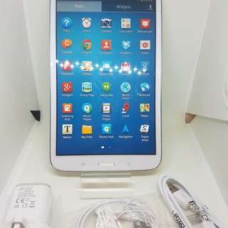 Samsung galaxy TAB 3...8.inc ..SM.T310..16.gb.only  Wi-Fi...original....maxsimum inside 128gb  memory card . Open line %100 working good No issues no problem white abd black color In good condition complete  %98 New so clean.......599 HKD