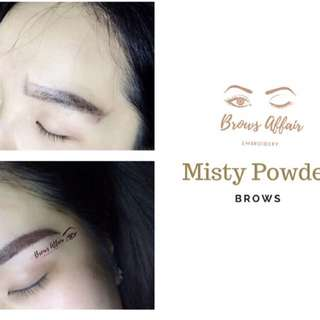 Brows embroidery