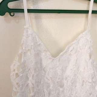 Long back white dress