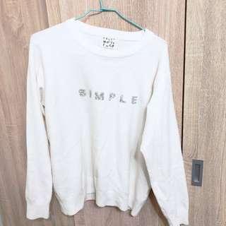 Simple 字母針織衣
