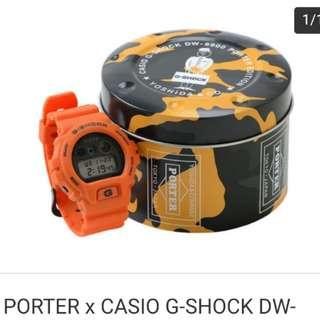 全新【PORTER X G-SHOCK DW-6900】兩大品牌PORTER、G-SHOCK 2018別注聯乘之作