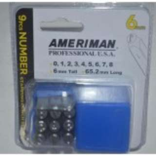 9pcs. Number stamping Punch 6mm