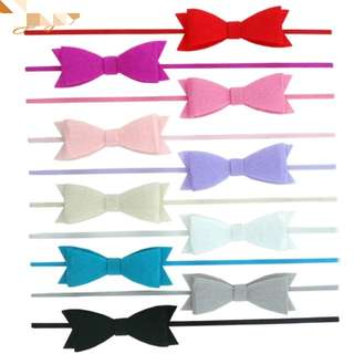 Skinny Wing Felt Bow Headbands
