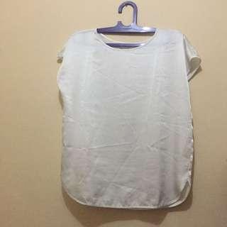 white satin loose top blouse bukan zara