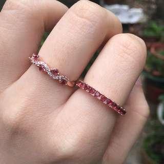 石榴石 925銀戒指