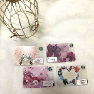 Korea Starbucks Cards $15 一張 $25 兩張