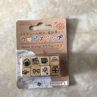 Daiso wood stamp/chop