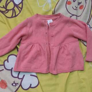 Preloved Baby Club mini cardigan peach colour