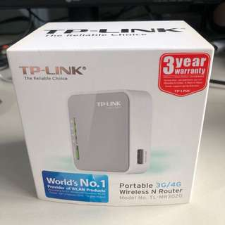 TP-Link 3G/4G portable wireless N Router TL-MR3020