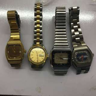 Four different models Swiss made