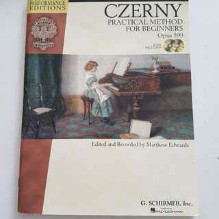 Piano Book: Czerny Op 599 with 2 CDd