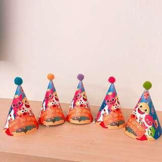 Customised Baby shark Doo Doo party hat