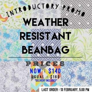 Weather resistant handmade BeanBag