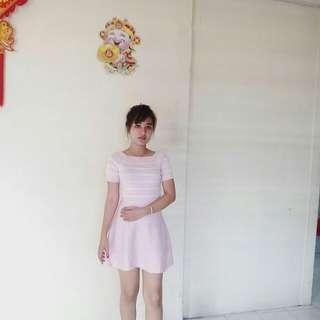 Knit dress softpink
