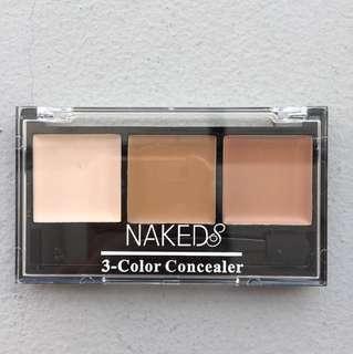 Naked8 3 Color Concealer+Brush No.02