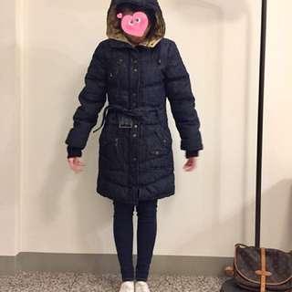 韓國長版連帽外套 禦寒外套 保暖 牛仔單寧 含運1699