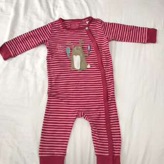 Joules clothing 9M baby girl sleepsuits