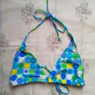 Printed bikini top