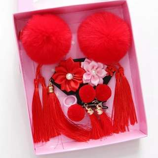 Baby girl hair clip red