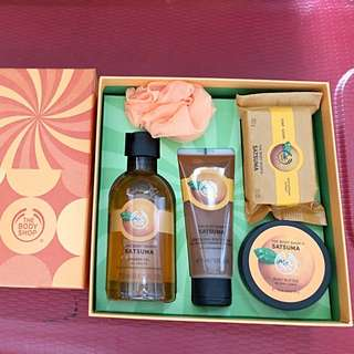 Brand New Auth The Body Shop Satsuma Festive Bath and Body Gift Set