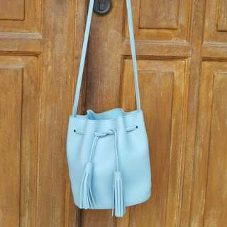 MINISO Blue Bucket Bag